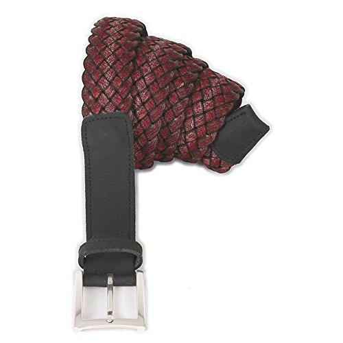 Cintura taglie forti uomo Maxfort 3-XF elastica a fantasia extra lunga - Rosso, 190 CM