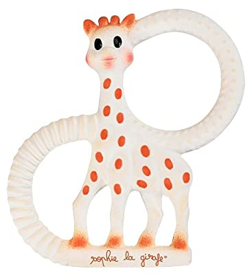 Sophie Giraffe Vanilla Scented Teething Ring Handmade in France from Calisson Inc
