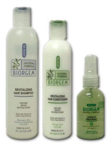 Dr Ross' Biogem Ph-Balanced Revitalizing Starter Set For Normal To Dry Hair - Shampoo 8Oz / Conditioner 6Oz / Treatment 2Oz