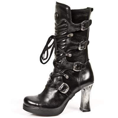 New Rock Goth Boots Women - Black - Euro 36 / UK 3.5