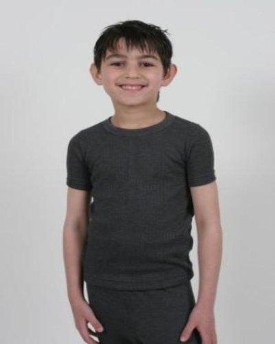 2 Boys Thermal Underwear Short Sleeve Vest
