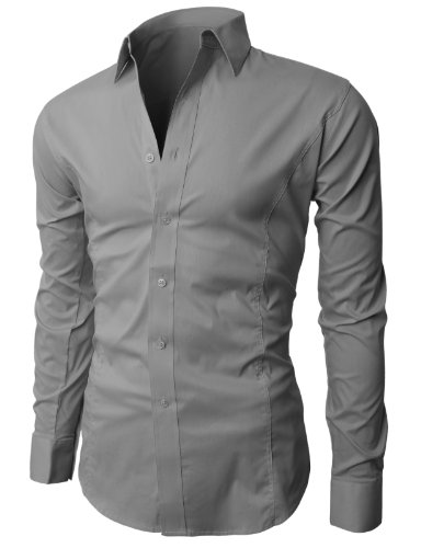 Compare Prices H2H Mens Wrinkle Free Slim Fit Shirt with