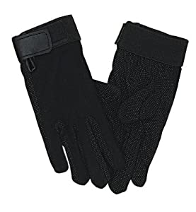 Perri's Adult Cotton Gloves, Black, Small