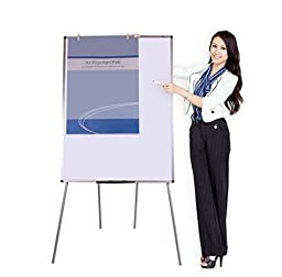 VIZ-PRO Light Weight Porcelain Magnetic Four Legs Stand Whiteboard/Flipchart Easel, 36\