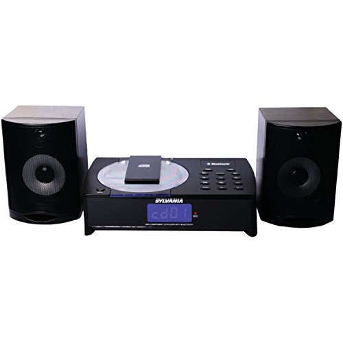 Sylvania Bluetooth, CD Micro System with FM Radio and Clock