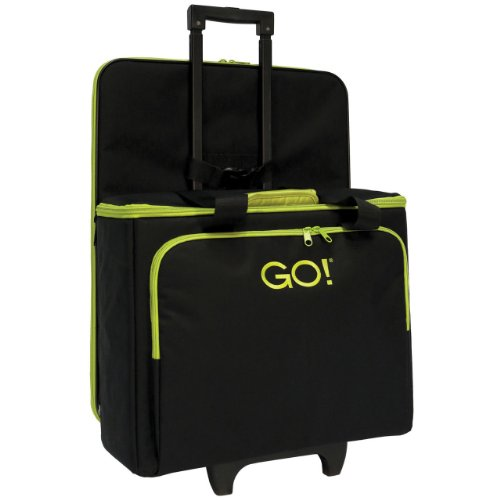 Accuquilt Go! Multi-Purpose Rolling Tote With Die Bag In Black front-493706
