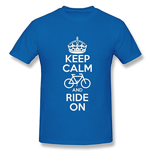 Printed Men Pre-Cotton Keep Calm Bicycle Fitted T-Shirt front-543487