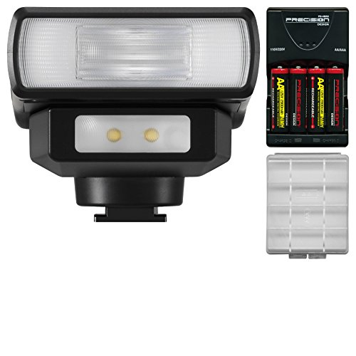 Panasonic DMW-FL200L Wireless Flash with LED Light with Batteries & Charger + Kit (Panasonic Lumix Wireless compare prices)