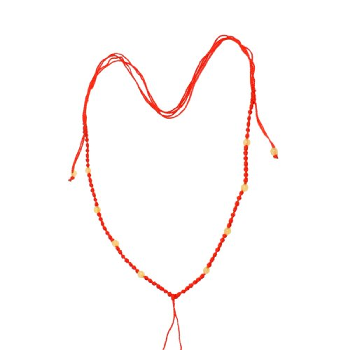 Rosallini 5 Pcs Lady Red Braid String Line Necklace Ornament