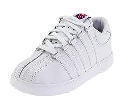 K-Swiss 201 Classic Tennis Shoe (Infant/Toddler),White,10 M US Toddler
