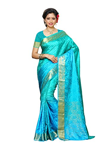Mimosa By Kupinda Women's Tusser Silk Saree Kanjivaram Style Color :Multi (3430-2037-3D-AND-RMA-SAF)  available at amazon for Rs.1299