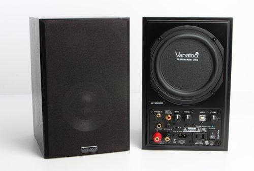Vanatoo Transparent One Powered Speakers (Black, Set of 2)