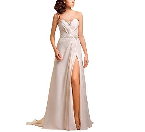 bb48cc454179 FELALA Women's Long Sweetheart Split Lace up Wedding Party Gowns