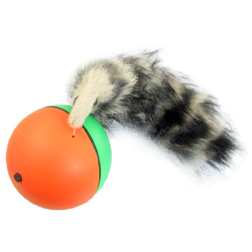 Como Plastic Fux Fur Chaserball Weazel Weasel Ball Toy for Pets Children