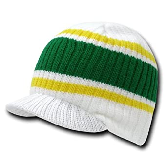 Decky Striped Campus Winter Beanie Jeep Cap (Comes In 3 Other Colors)