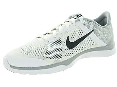 White/Dark Grey/Wlf Gry/Cl Gry Training Shoe 9.5 Women US | Amazon.com