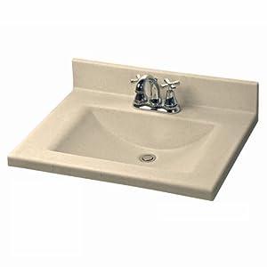 American Standard CMW2522.656 Silkstone 25-Inch Cultured Marble Vanity Top with Rectangular Bowl, Sand Granite