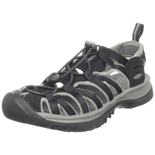 Keen Women's Whisper Sandal,Black/Gargoyle,11 M US