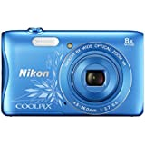 Nikon Coolpix S3700 Digitalkamera (20 Megapixel, 8-fach opt. Zoom, 6,7 cm (2,6 Zoll) Display, Wi-Fi, NFC, Panorama-Assistent) blau ornament