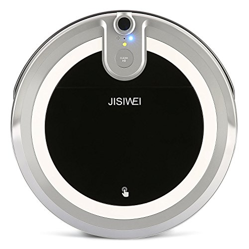 JISIWEI I3 Wi-Fi Enabled Robotic Vacuum Cleaner Self Charging Floor Cleaner with Camera and Mobile App Remote Control for Hard Floors (Grey) (Robotic Infrared Video Cameras compare prices)