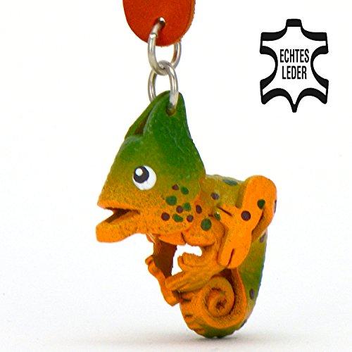 Chamleon-Carolin-kleiner-Chamleon-Schlssel-Anhnger-aus-Leder-eine-tolle-Geschenk-Idee-fr-Frauen-und-Mnner-im-Zoo-Zubehr-Stofftier-Kuscheltier-Schuppenechsen-Schuppenkriechtiere-Bradypodion-Brookesia-C