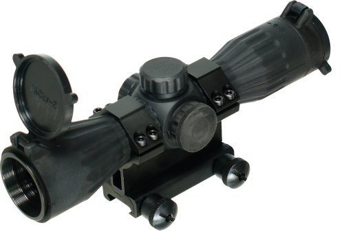 UTG 4x32 Compact Rubber Armored Mil-Dot RBG Illuminated Scope - Posp