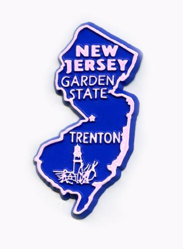 New Jersey The Garden State United States Fridge Magnet