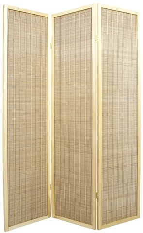 Where to Buy Room Dividers Low Price - 6ft. Serenity Japanese Shoji Floor Screen - 3 Panel Natural