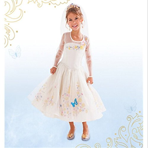 Eyekepper Cinderella dress white Ella 's wedding dress costume cosplay girl