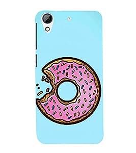 Doughnut Bite 3D Hard Polycarbonate Designer Back Case Cover for HTC Desire 626 :: HTC Desire 626 Dual SIM :: HTC Desire 626S :: HTC Desire 626 USA :: HTC Desire 626G+ :: HTC Desire 626G Plus