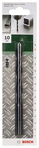 Bosch 2609255020 Metal Drill Bits HSS-R with Diameter 10.0mm by Bosch (Bosch 10mm compare prices)