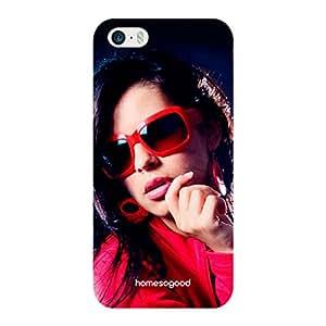 HomeSoGood Fashion Portfolio Blue 3D Mobile Case For iPhone 5 / 5S (Back Cover)