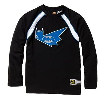 "Batman Boys Long Sleeve Crew Neck Raglan Jersey w/ Embroidered ""Bat Signal"" in Black Size: 14/16"
