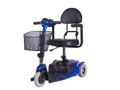 Xmb-400 3 Wheel Electric Compact Mobility Scooter (Blue)