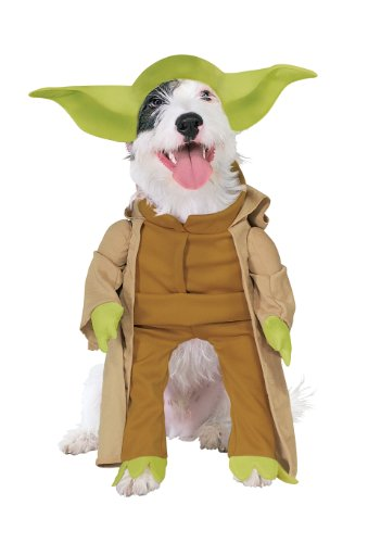Rubies Costume Star Wars Collection Pet Costume, Yoda with Plush Arms, Small - 1