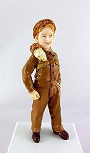 Puppenhaus Miniatur 1:12 scale Resin Menschen Boy amerikanischen Coonskin Jagd Cap