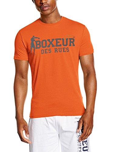 Boxeur Des Rues Sèrie Exclusive T-Shirt Logo Bandiera Francese, Fluo Orange, S