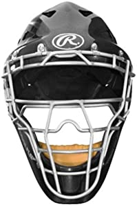 Rawlings Coolflo Highlight Youth Pro Series Catchers Helmet (Black)