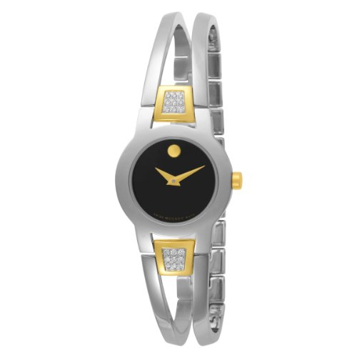 Movado Women's 604983 Amorosa Diamond Accented Bangle Bracelet Watch