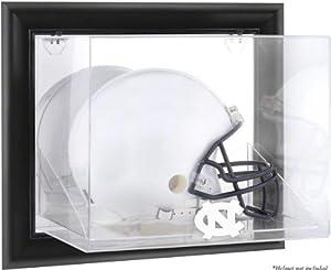 North Carolina Tar Heels Framed Wall Mounted Logo Helmet Display Case by Mounted Memories