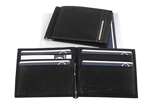 Mini portafoglio uomo SERGIO TACCHINI nero con ferretto ferma banconote A5224