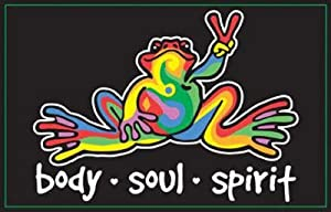 Peace Frog Body Soul Spirit Blacklight Art Poster Print - 24x36 Blacklight Poster Print, 34x22