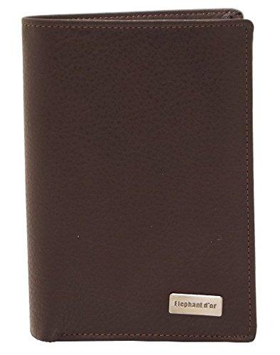 Portefeuille Design pour homme en cuir marron N772