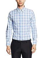 Uominitaliani Camisa Hombre 8609 (Azul Celeste / Blanco)