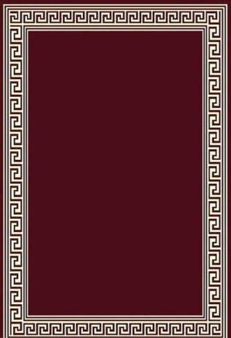 4X6 Area Rug Modern Greek Key Design Solid Burgundy Actual Size 3'10
