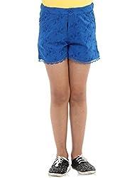 Oxolloxo Girls cotton blue shorts