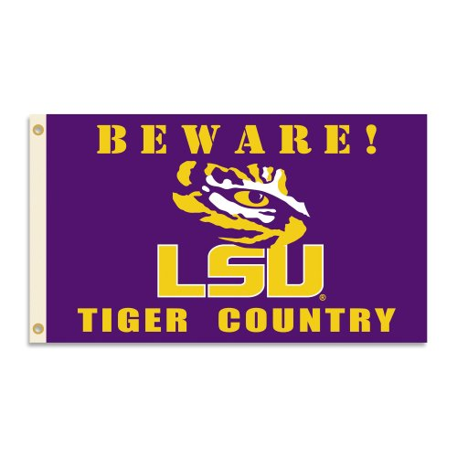 NCAA LSU Tigers 3 x 5-Feet Country Flag with Grommets