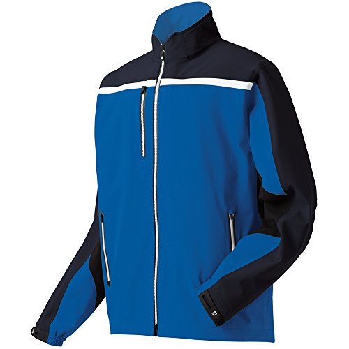 FootJoy DryJoys Tour XP Rain Jacket Choose Size and Color (Nautical Blue/Black&White, 2XL) (Dryjoy Rain Wear compare prices)