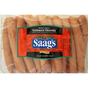 Saag's - German Franks (Wienerli) 20 pack 2 oz. Links by Saag's