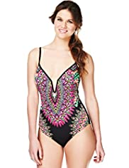 Limited Collection Feather Print Underwired Swimsuit